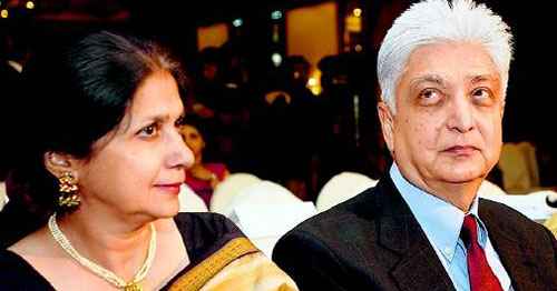 Azim Premji with beautiful, Wife Yasmeen