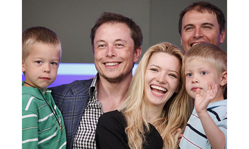 Justine Musk & family