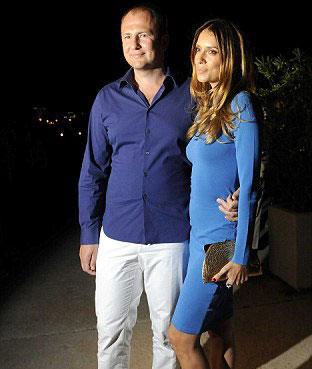 Andrey Melnichenko with wife, Aleksandra