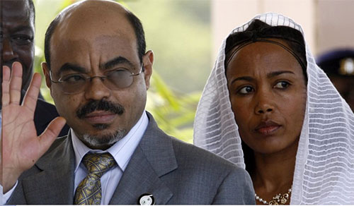 Meles Zenawi and Azeb Mesfin