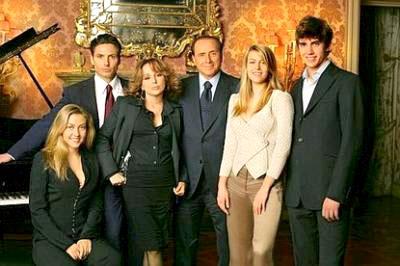 Silvio Berlusconi and family