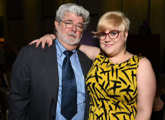 Photo of George Lucas & his  Daughter  Katie Lucas