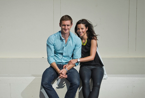 Cameron van der Burgh and girlfriend Jana Botes