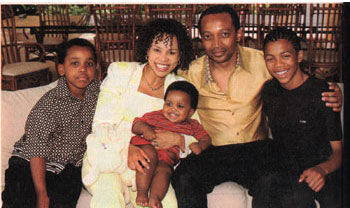 Patrice Motsepe & his family