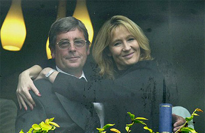 J. K. Rowling with her father Peter