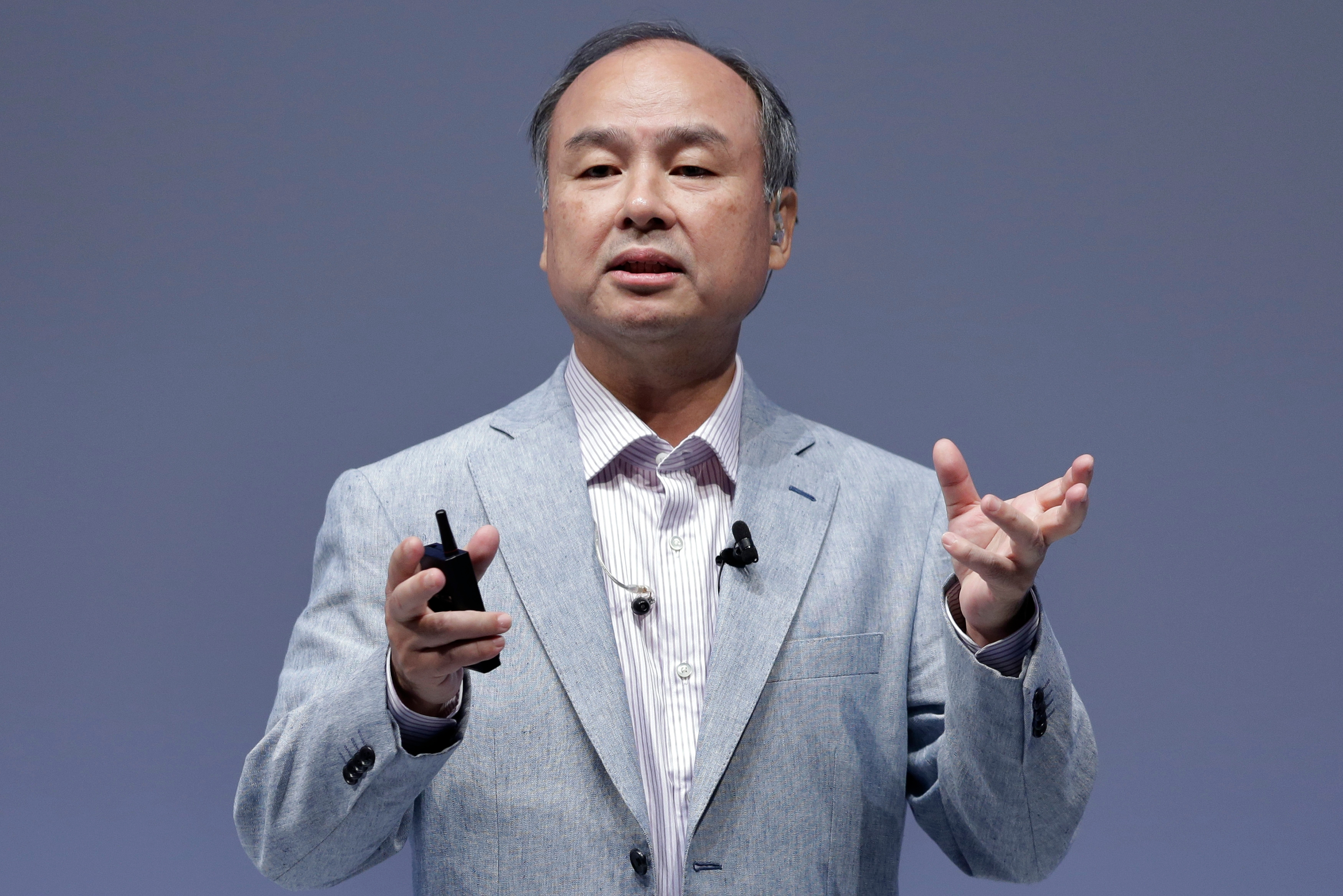 SoftBank Group Corp. Chairman Masayoshi Son Speaks At SoftBank World 2015