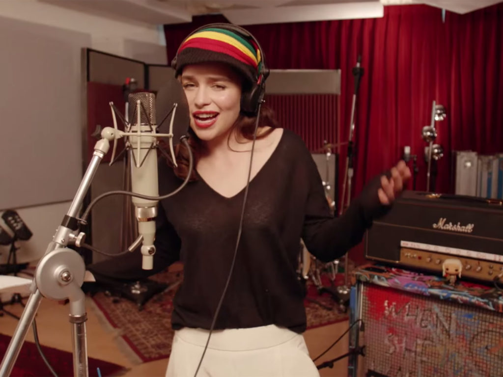 Emila clarke singing