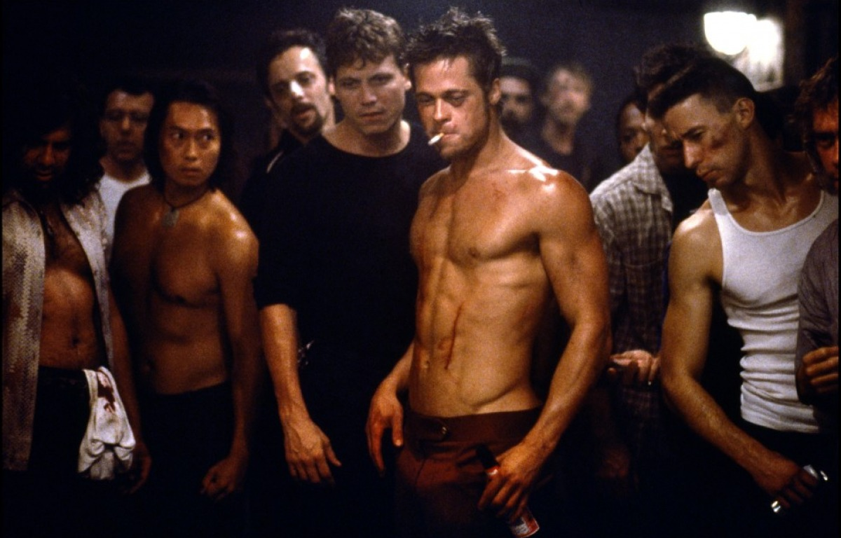 Brad Pitt in Film Fight Club