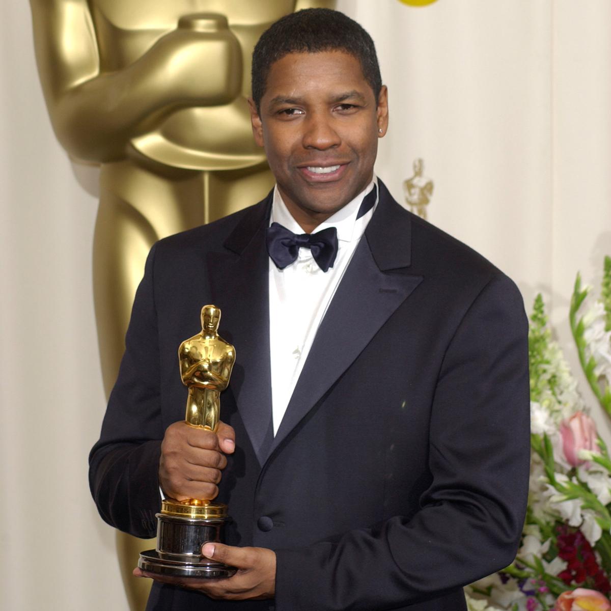 Denzel Hayes Washington with Oscar