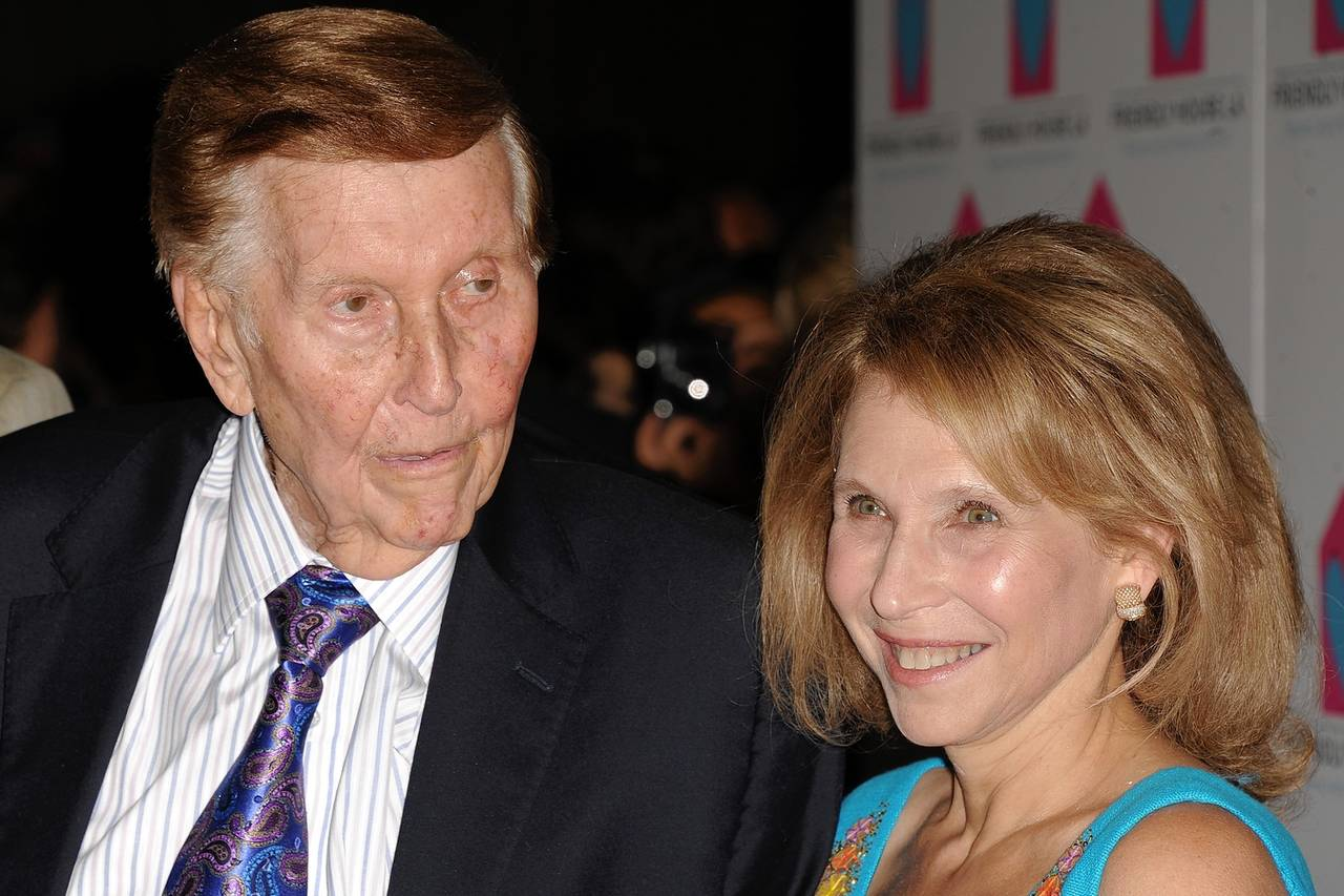 Sumner Redstone with his Daughter