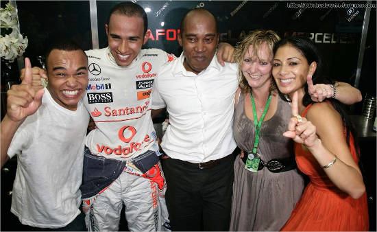Lewis Hamilton parents