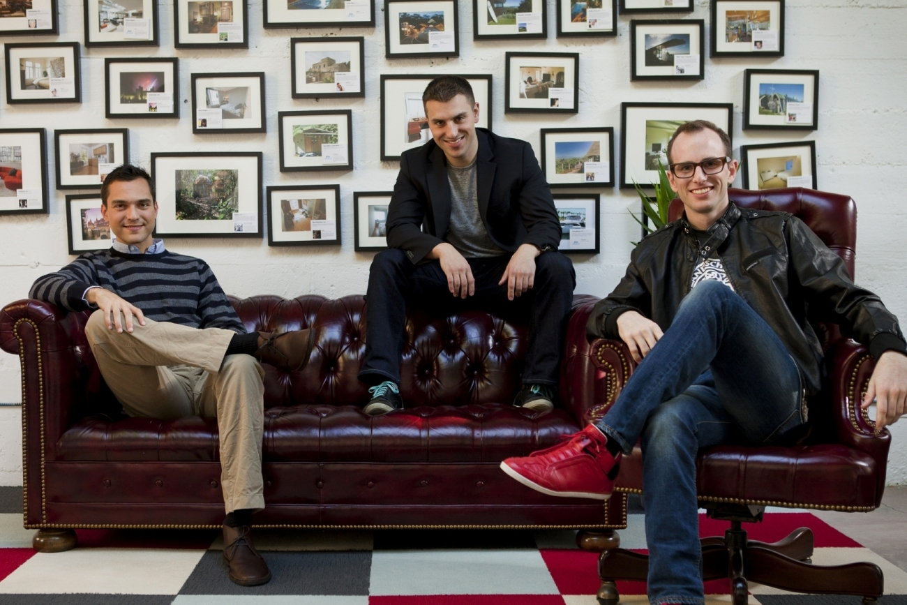 Brian Chesky, Joe Gebbia, and Nathan Blecharczyk