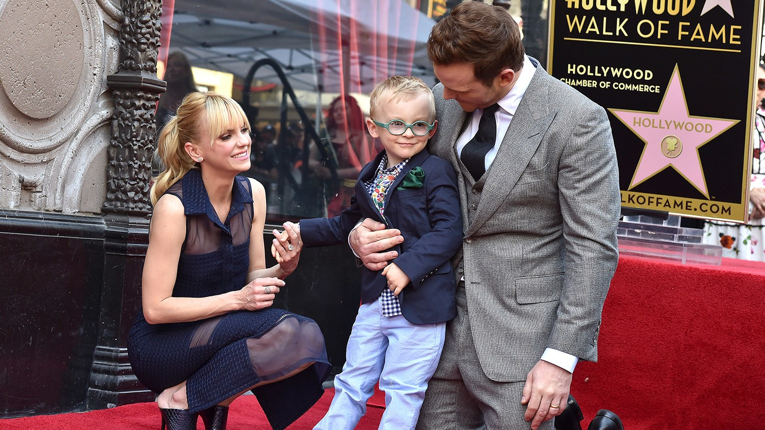 Divorced husband and wife: Chris Pratt and Anna Faris with their first child: a son named Jack